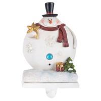 Fun Christmas Santa Snowman Resin Stocking Holder Xmas ...