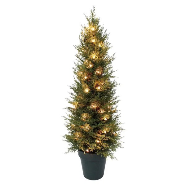 Outdoor Pre-Lit Artificial Christmas Trees