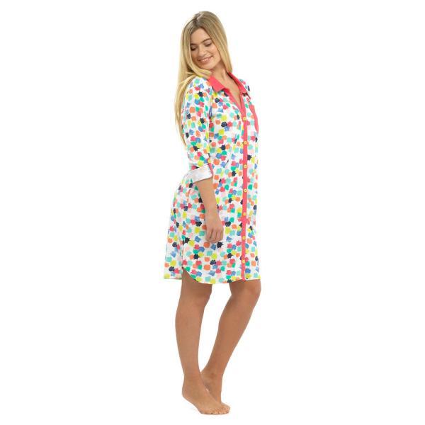 Button Front Cotton Summer Dresses