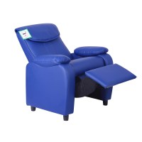 Kids Childrens Faux Leather Padded Reclining Recliner ...