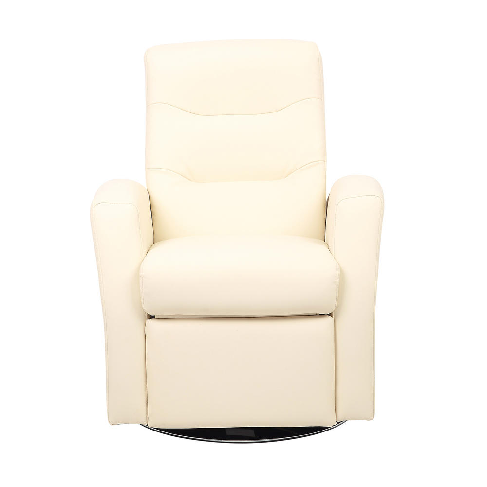 Kids Reclining Swivel Chair Furniture Comfy Faux Leather