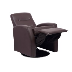 Faux Leather Recliner Chair Cover Rentals Bay Area Childrens Luxurious With Swivel Action Seat
