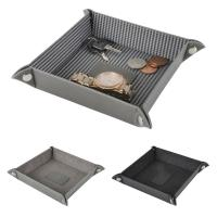Faux Leather Tray Holder For Coins Cash Keys Jewellery Storage