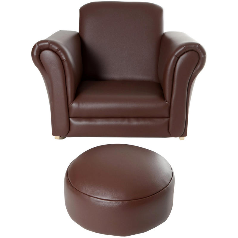 Children's PU Leather Look Cushioned Rocker Rocking