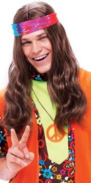 long brown hippie hippy fancy dress