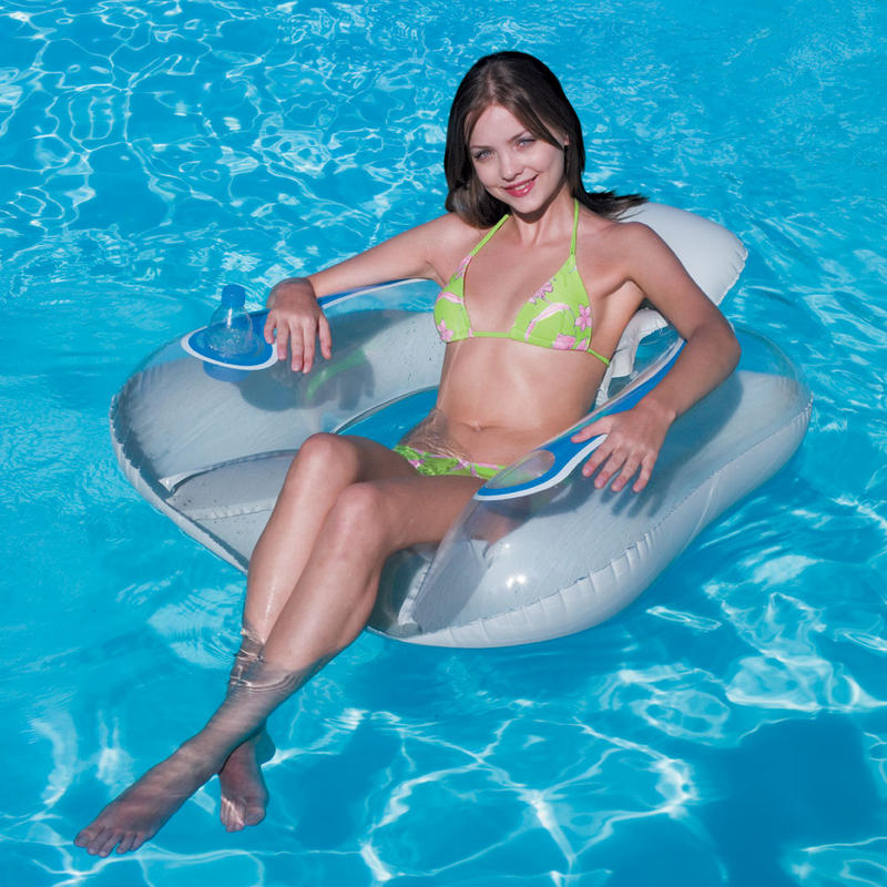 Inflatable Floating Transparaent Swimming Pool Flip Lounge