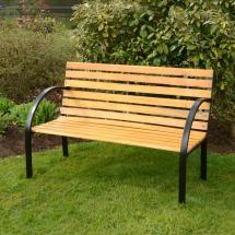 Azuma Arran 3 Seat Garden Natural Hardwood Bench Outdoor