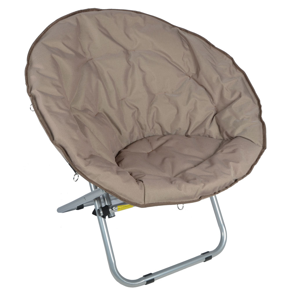 2 x Azuma Deluxe Padded Folding Moon Chairs Cappuccino  eBay