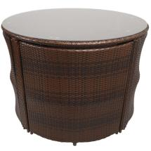Napoli Rattan Wicker Dining Garden Furniture Set With
