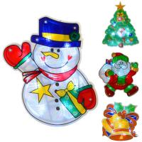 Light Up Battery Operated PVC Christmas Silhouette Window ...