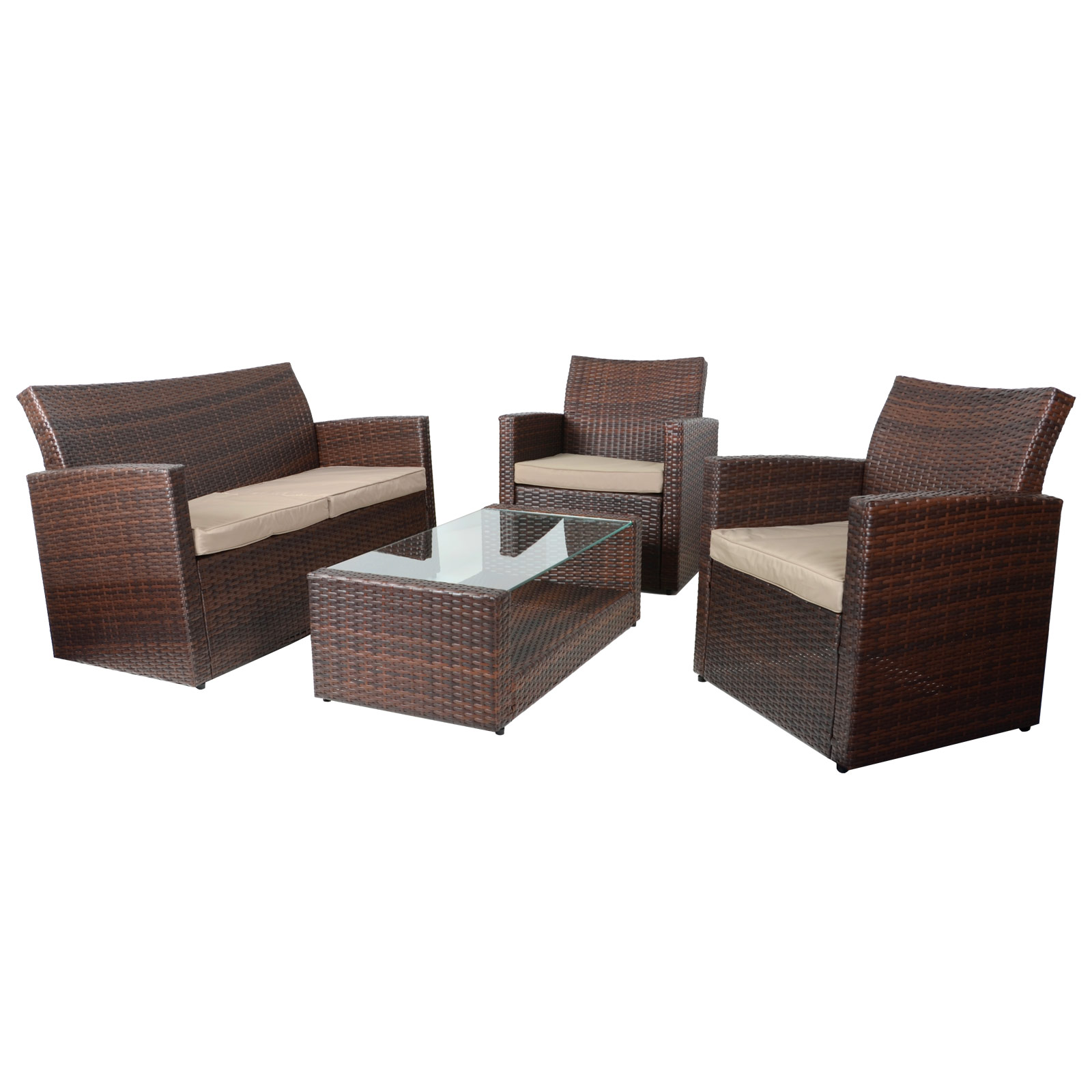 wicker sofa sets uk leather sofas ashley furniture 4pc tuscany rattan set garden conservatory