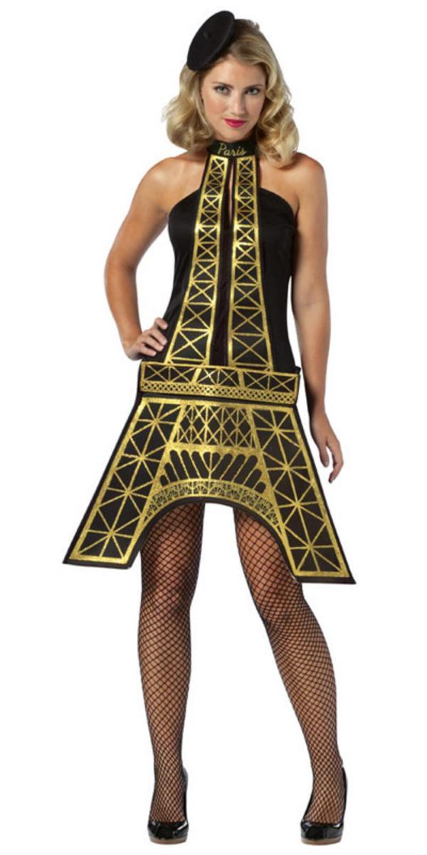 Womens Eiffel Tower Dress France Paris World Fancy