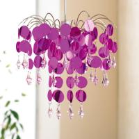 Chic Hot Pink Easy Fit Chandelier Ceiling Light Shade ...