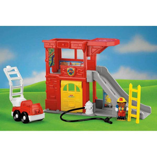 Fisher Little People Rescue Ramps Fire Station Play Set With Sound