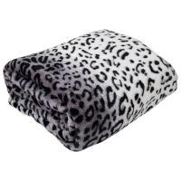 Luxurious Leopard Animal Print Microfleece Blanket Throw ...