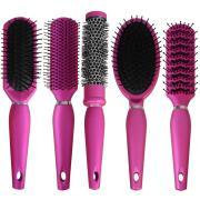 salon styler ladies pink hair brush