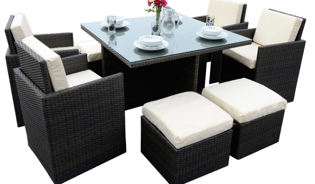 Astonishing 4 Seater Cube Garden Furniture Set Home Garden Download Free Architecture Designs Jebrpmadebymaigaardcom