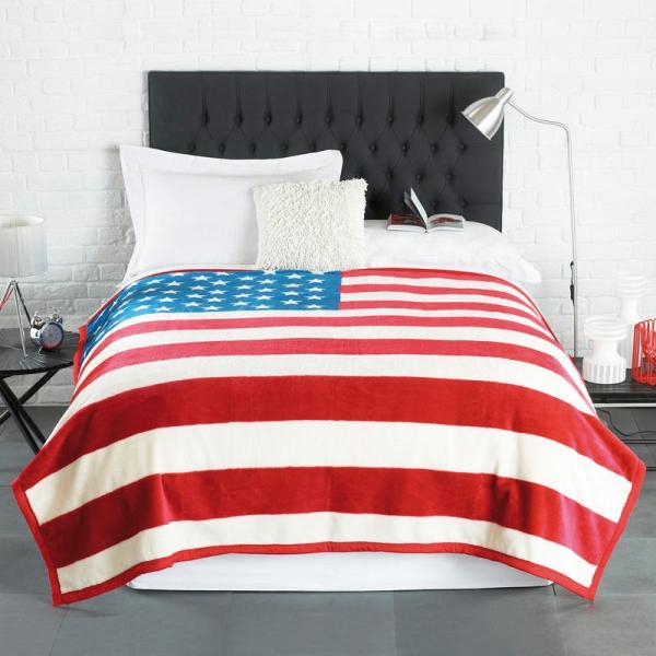 Stars & Stripes American Flag Luxurious Blanket Bed Sofa