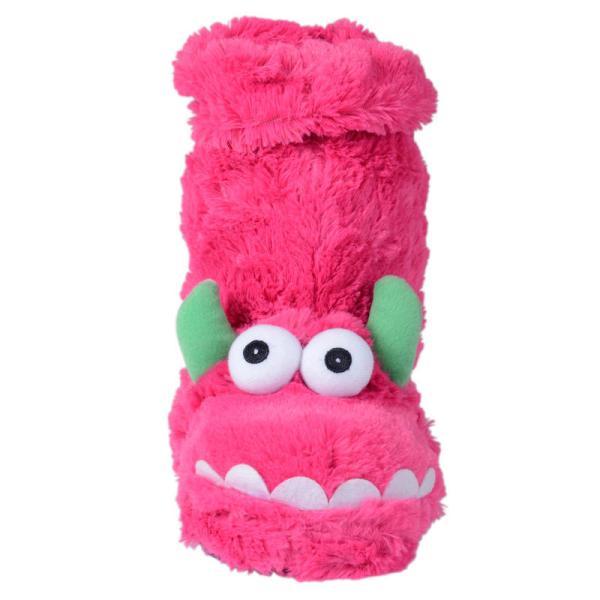 Ladies & Girls Pink Blue Purple Fun Furry Monster Sock