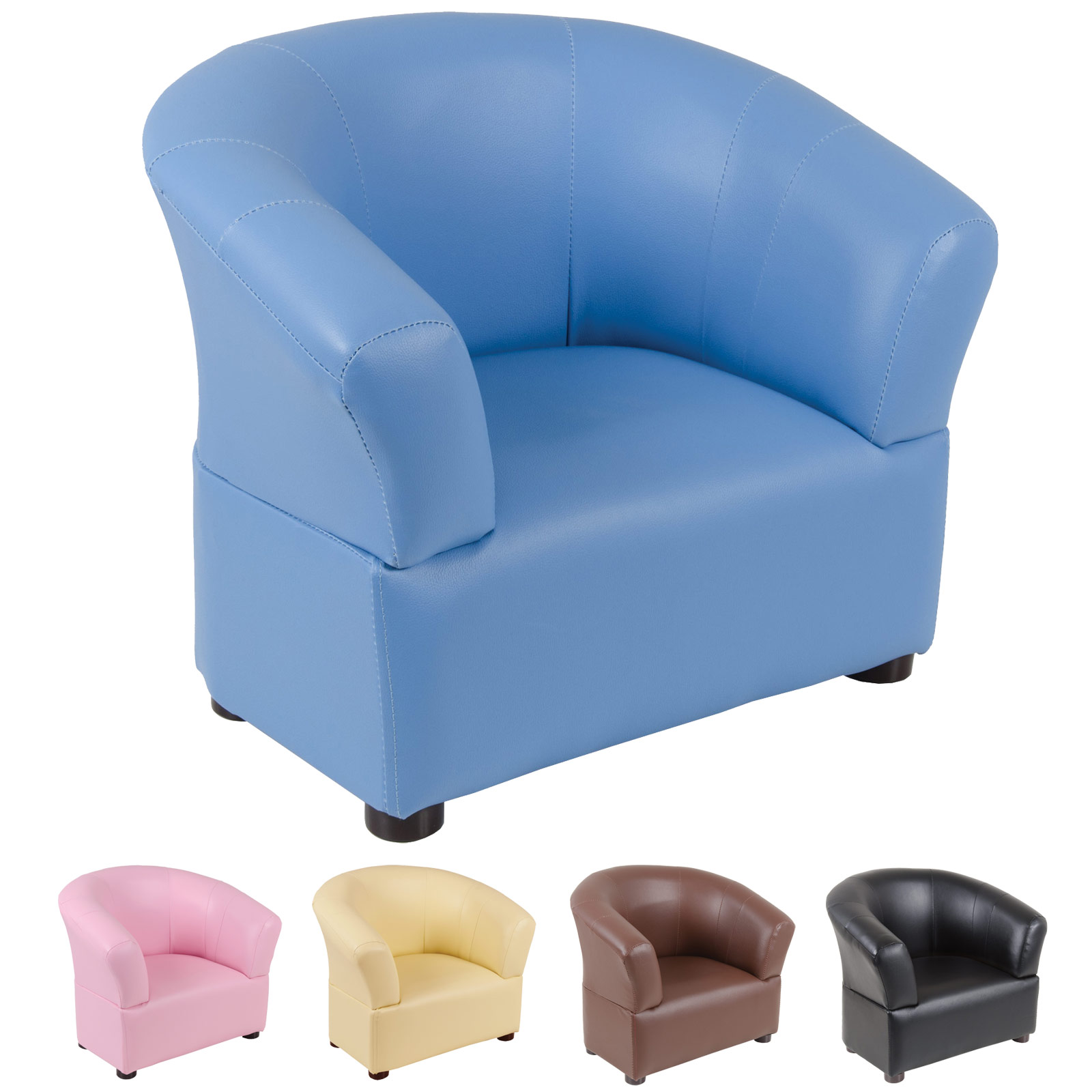 Comfiest Chair Kids Comfy Pvc Leather Look Tub Chair Armchair Seat