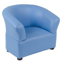 Comfy Chairs For Toddlers Wedding Chair Covers Lanarkshire Kids Pvc Leather Look Tub Armchair Seat