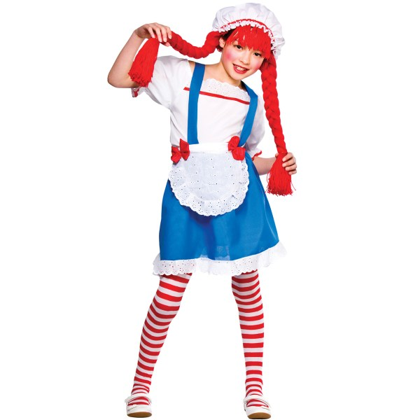 Little Rag Doll Costume Girls Fancy Dress Party Outfit