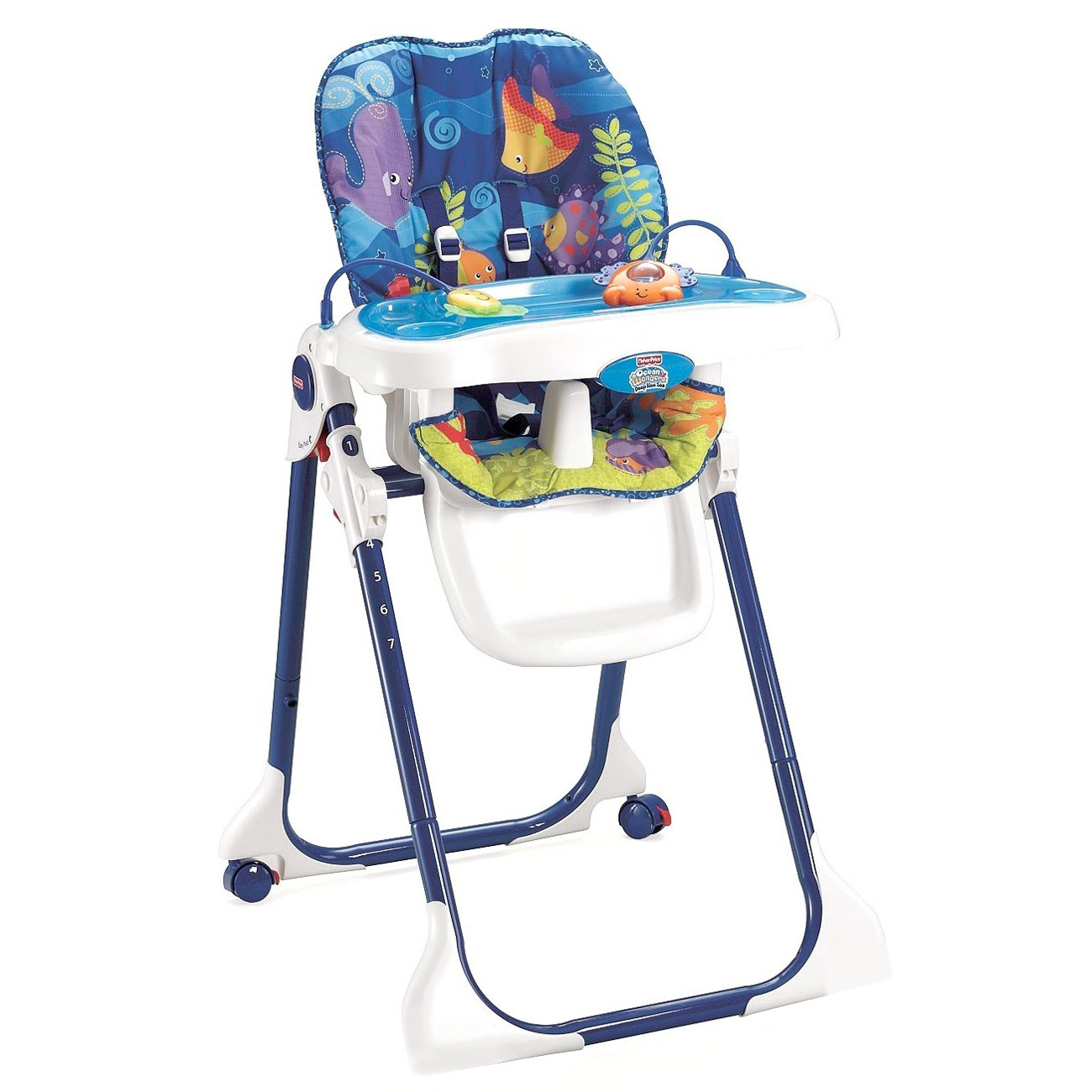 High Chair Fisher Price Fisher Price Easy Clean Ocean Wonders High Chair Deep Blue