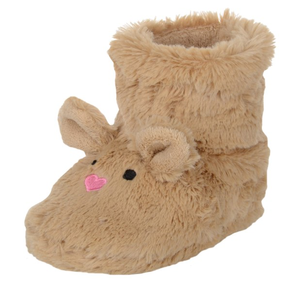 Child Pink Bunny Rabbit Brown Mouse Bootie Slippers Faux