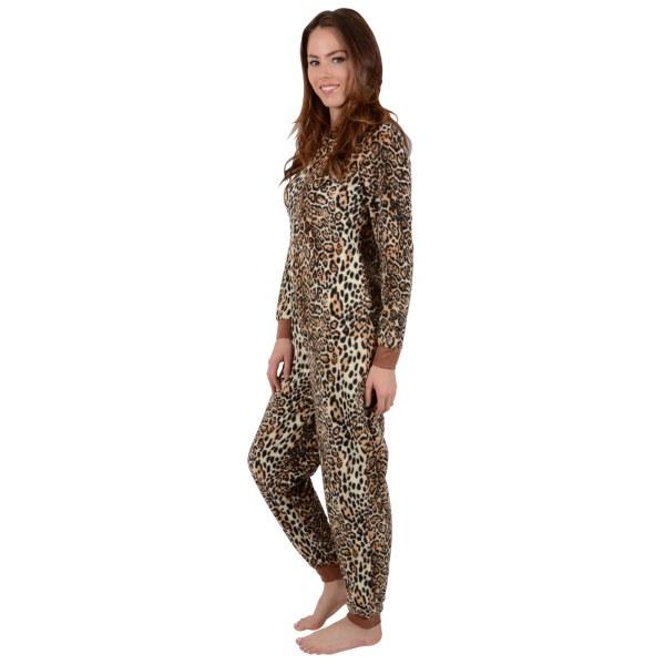 Womens Leopard Print Pajamas - Breeze Clothing