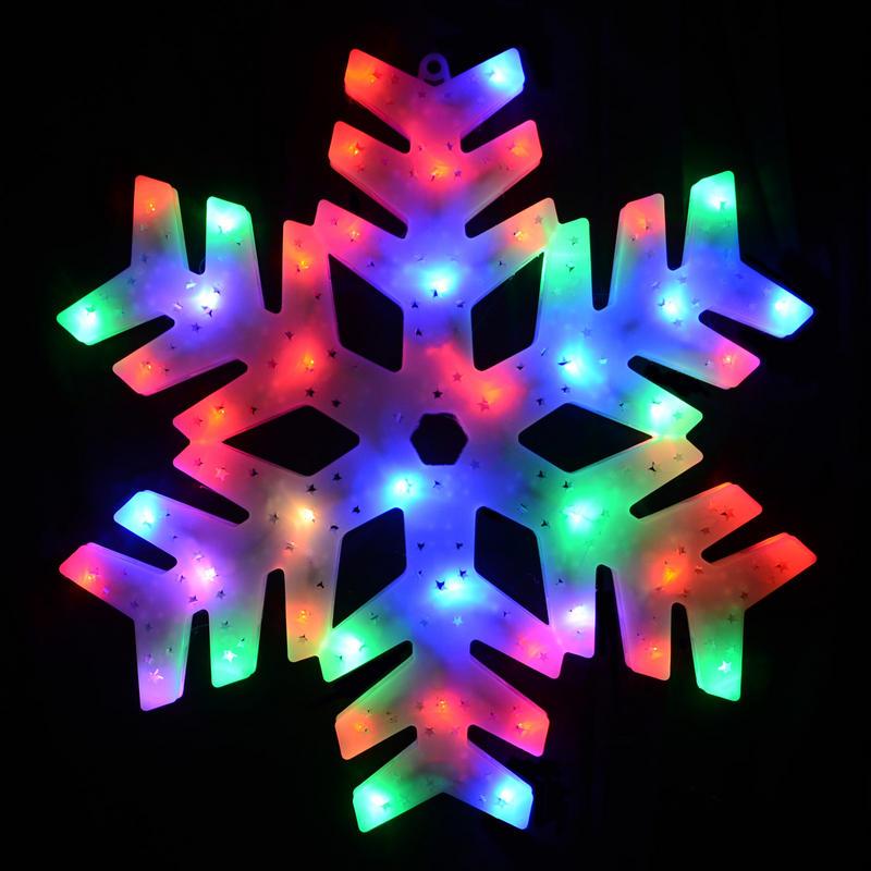 50 Colour Changing LED Snowman Window Decoration