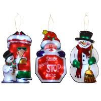 Window Silhouette LED Light Up Christmas Decoration Santa ...