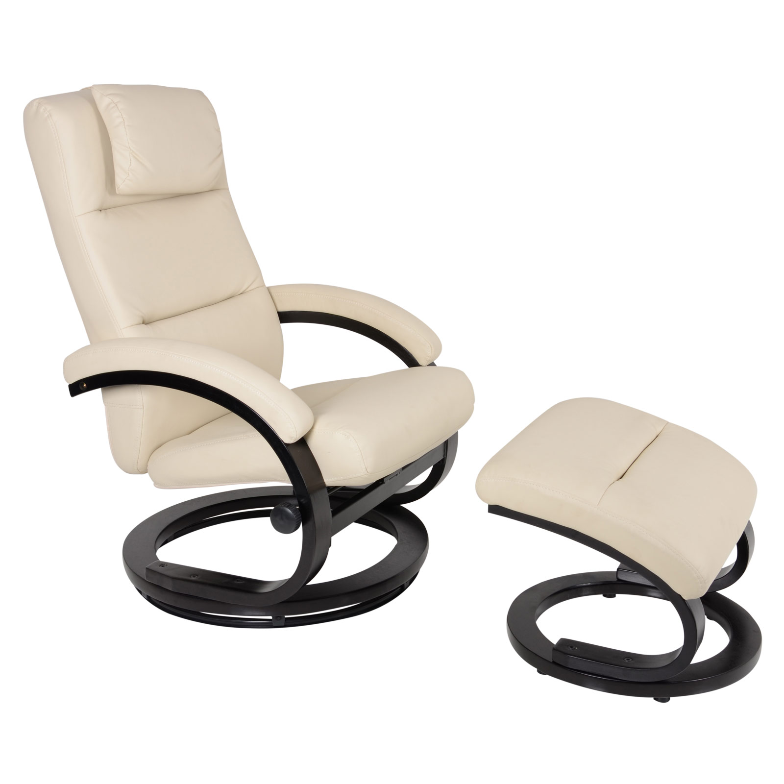 PU Leather Relaxer Chair Lounger Padded Armchair Recliner