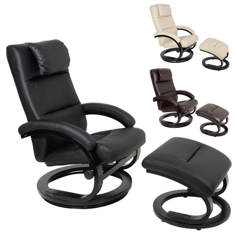 Relaxer Chair Recliner Swivel Seat With Foot Stool