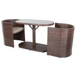 2 Chairs And Table Rattan Breakfast Chair Set Latina Bistro Garden Glass Top Furniture With