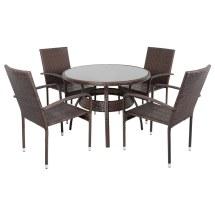 Ravenna Rattan Wicker Aluminium Garden Patio Dining Table
