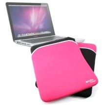 Reversible Black Pink Laptop Sleeve Case Bag Pouch