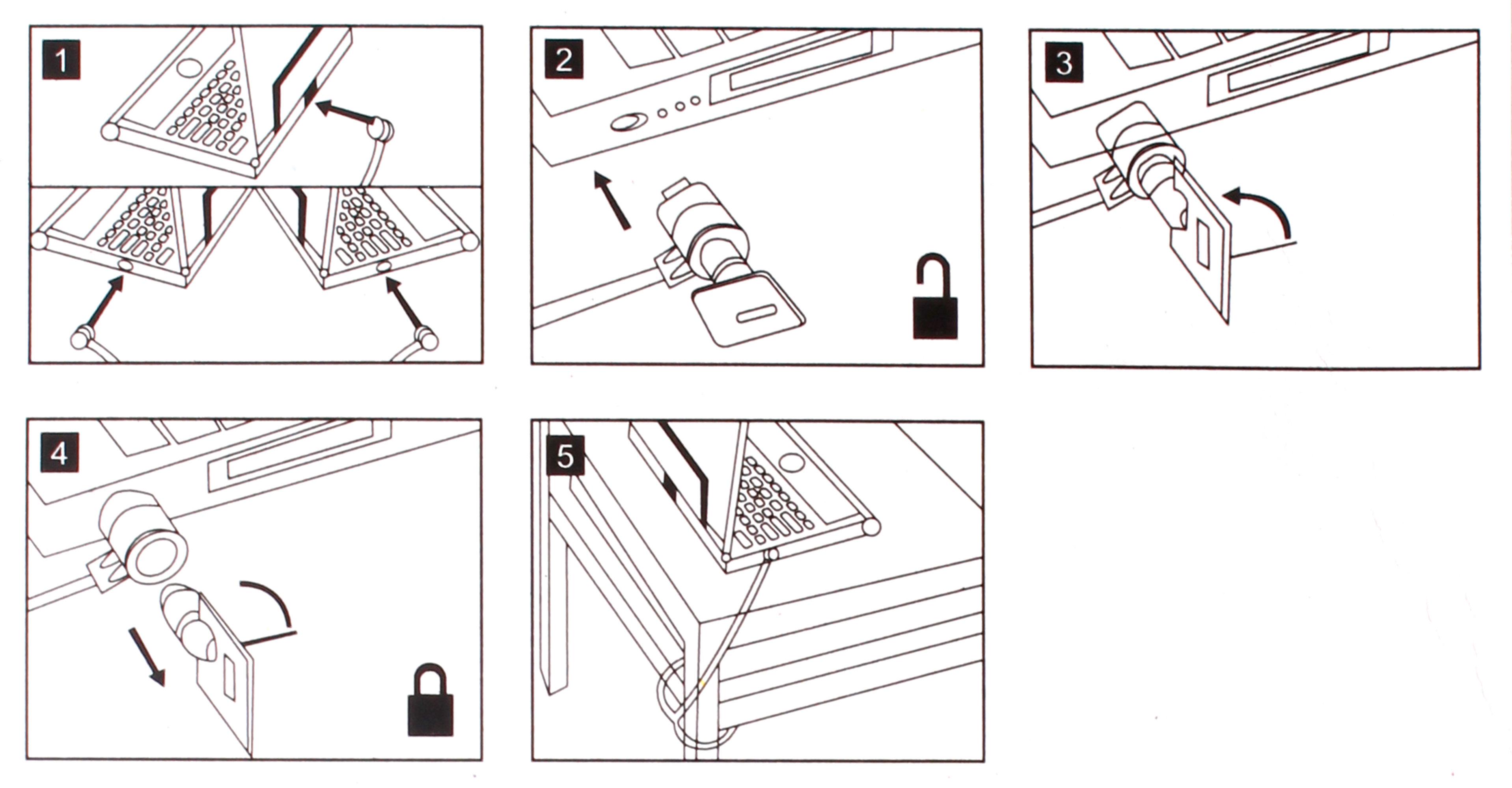 Câble antivol de sécurité à verrou pour Lenovo Ideapad