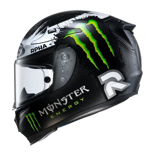 Hjc Rpha10 Lorenzo Replica Ghost Fuera Black Motorcycle