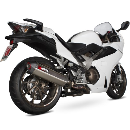 small resolution of sentinel rha168seo scorpion serket parallel stainless oval exhaust honda vfr 800f 2014 current