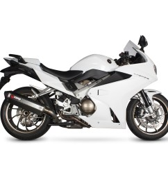 sentinel rha168seo scorpion serket parallel stainless oval exhaust honda vfr 800f 2014 current [ 1600 x 1600 Pixel ]