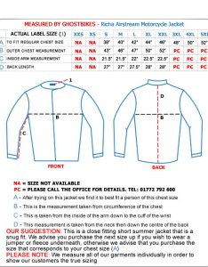 Richa airstream motorcycle jacket also jackets ghostbikes rh