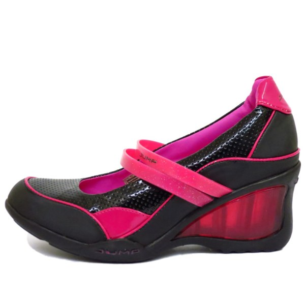 Pink And Black Wedges - imgUrl d141cf7c2