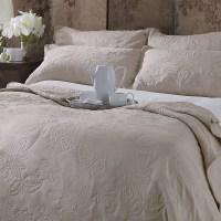 Sashi Bed Linen Lille Floral Embroidered Bedspread ...