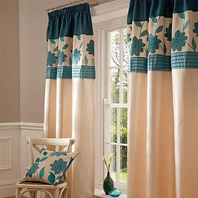 Catherine Lansfield Clarrisa Pencil Pleat Curtains