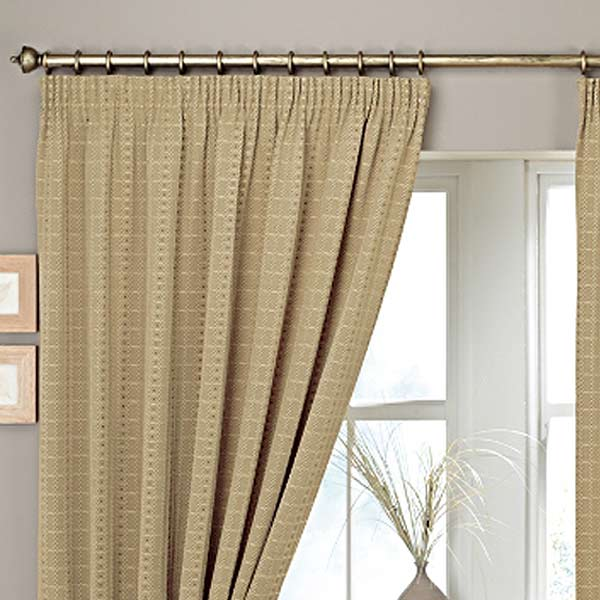 Curtina Marlowe Woven Jacquard Pencil Pleat Lined Curtains EBay