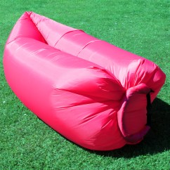 Inflatable Lawn Chair Brown Occasional Chairs Camping Lounger Sleeping Bed Sofa Hangout