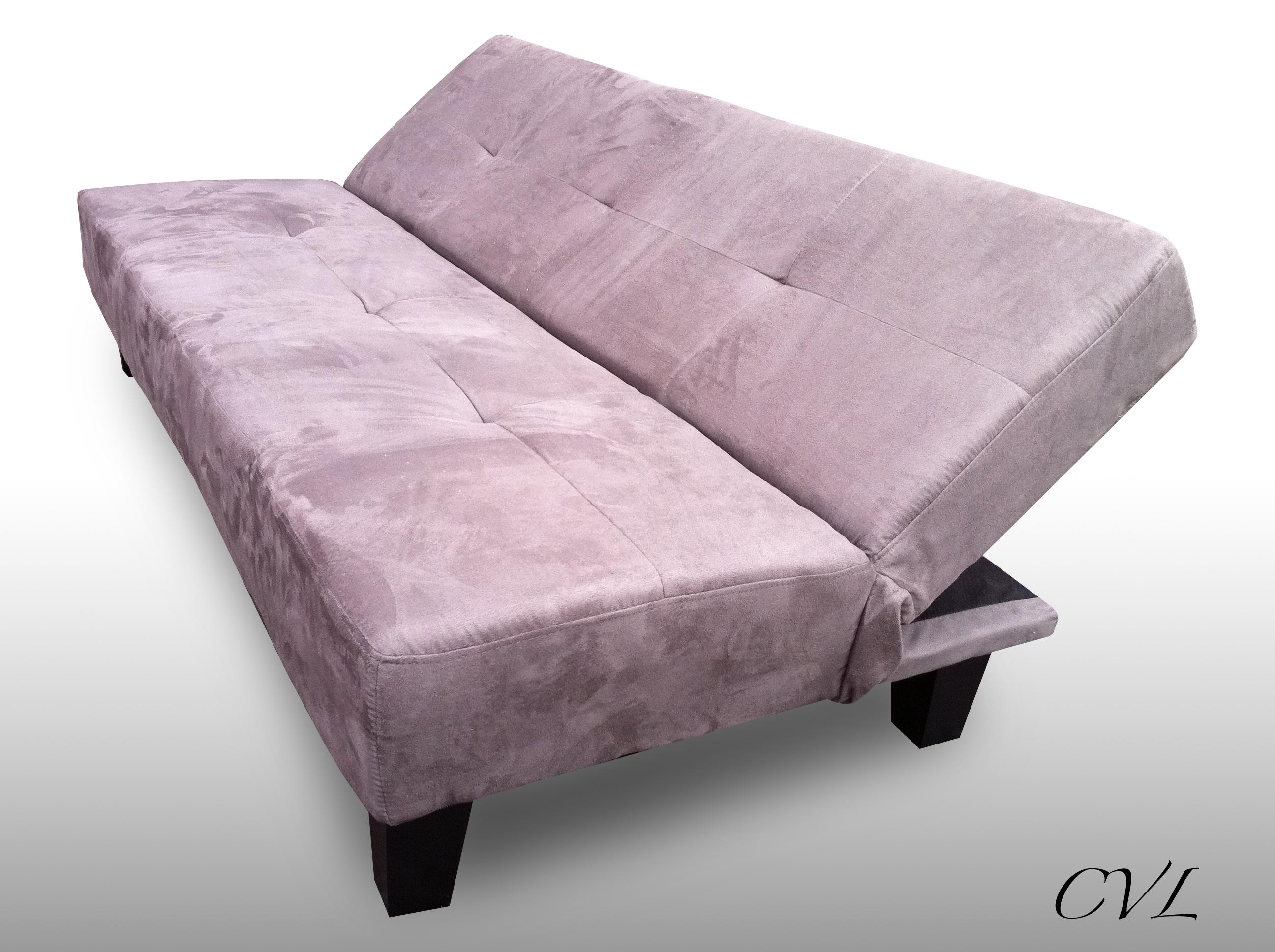 faux suede sofa cleaner black velvet sofas uk luxury effect bed 3 position easy click change