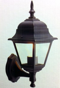 OUTSIDE LIGHT PORCH SECURITY GARDEN WALL LANTERN BLACK OR ...