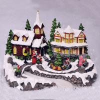 Animated Christmas Village Scene Ornament. Lights & Sounds ...