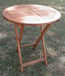 Acacia Wood Folding Table Garden & Patio 75cm